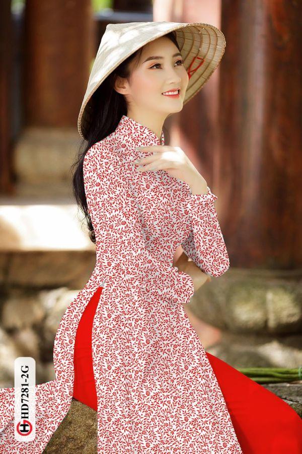 Vải áo dài hoa nhí AD HD7281 15