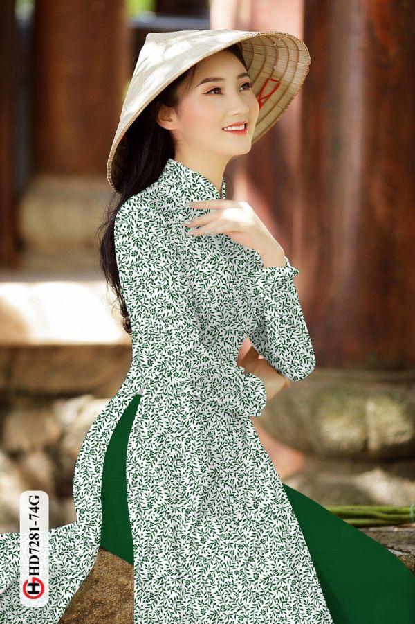 Vải áo dài hoa nhí AD HD7281 5