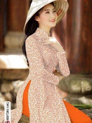 Vải áo dài hoa nhí AD HD7281 26
