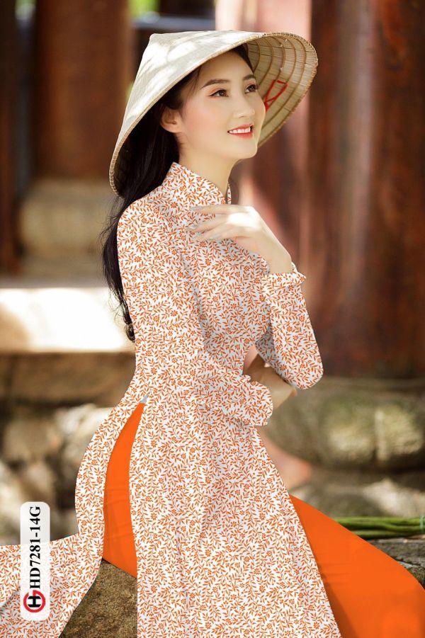 Vải áo dài hoa nhí AD HD7281 12