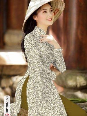 Vải áo dài hoa nhí AD HD7281 24