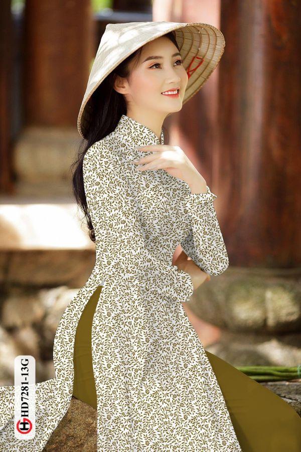 Vải áo dài hoa nhí AD HD7281 10