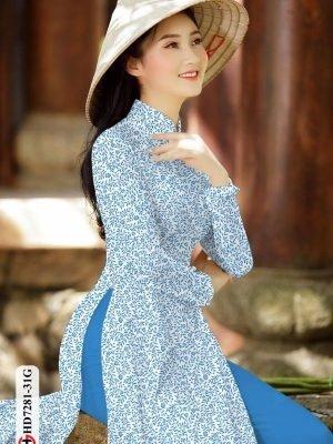 Vải áo dài hoa nhí AD HD7281 17
