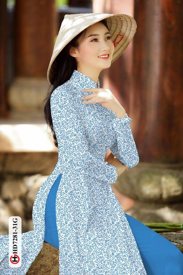 Vải áo dài hoa nhí AD HD7281 3
