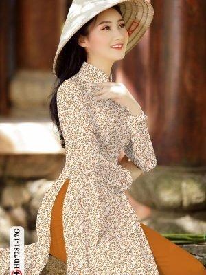 Vải áo dài hoa nhí AD HD7281 16