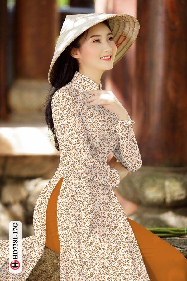 Vải áo dài hoa nhí AD HD7281 2