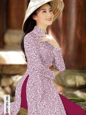 Vải áo dài hoa nhí AD HD7281 27