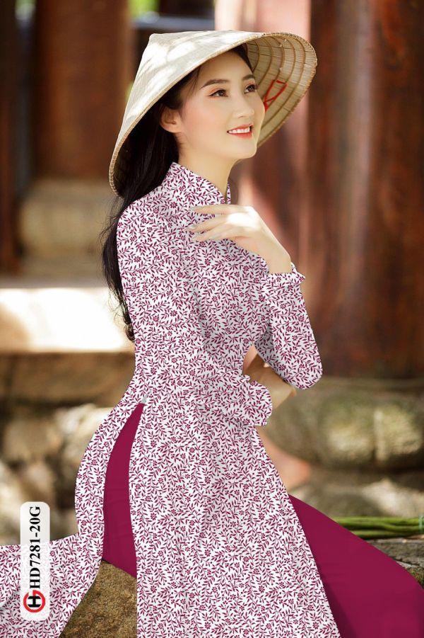 Vải áo dài hoa nhí AD HD7281 13
