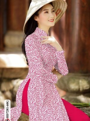 Vải áo dài hoa nhí AD HD7281 20