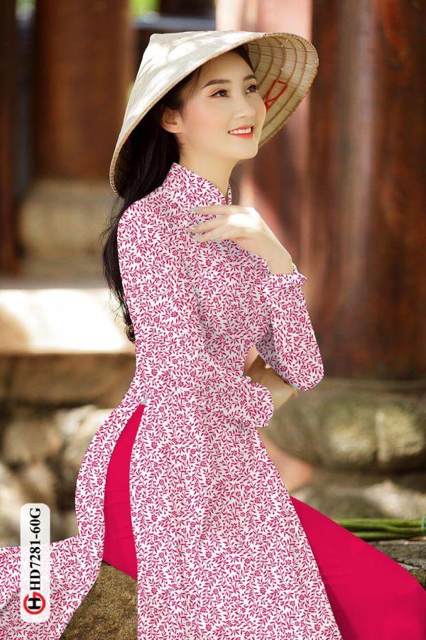 Vải áo dài hoa nhí AD HD7281 6