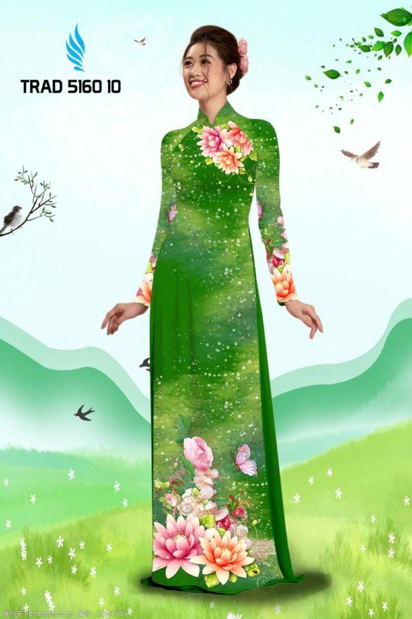 Vải áo dài hoa sen AD TRAD 5160 2
