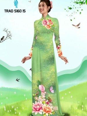 Vải áo dài hoa sen AD TRAD 5160 13