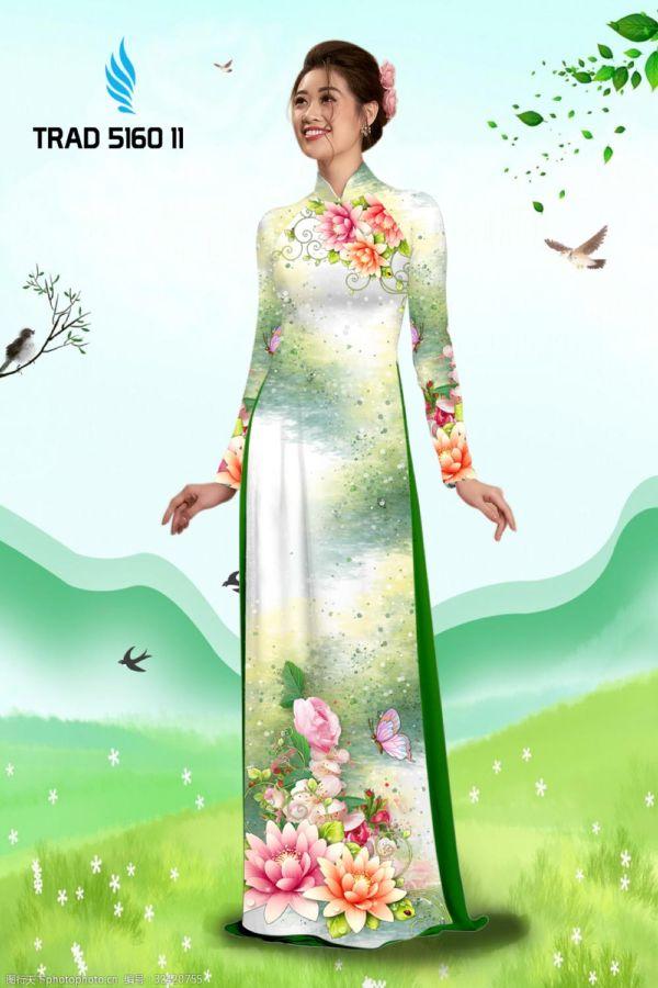 Vải áo dài hoa sen AD TRAD 5160 1