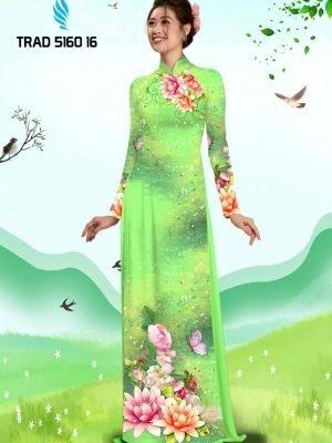 Vải áo dài hoa sen AD TRAD 5160 14