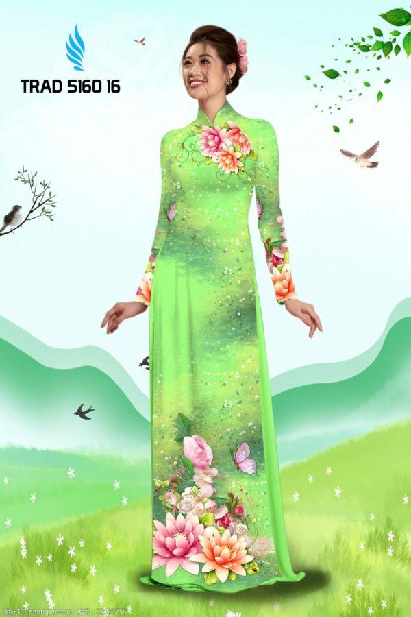 Vải áo dài hoa sen AD TRAD 5160 7