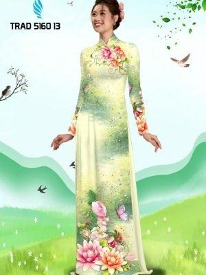 Vải áo dài hoa sen AD TRAD 5160 11