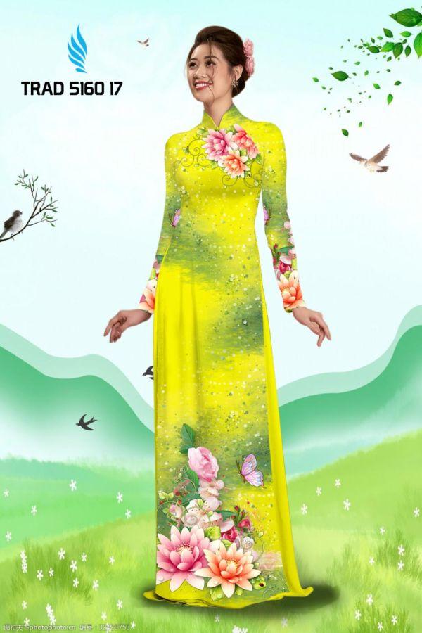 Vải áo dài hoa sen AD TRAD 5160 8