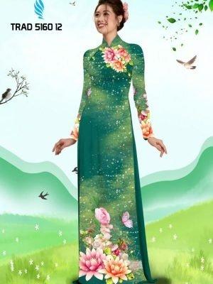 Vải áo dài hoa sen AD TRAD 5160 10