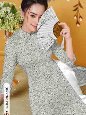 Vải áo dài hoa nhí AD GH7463 29