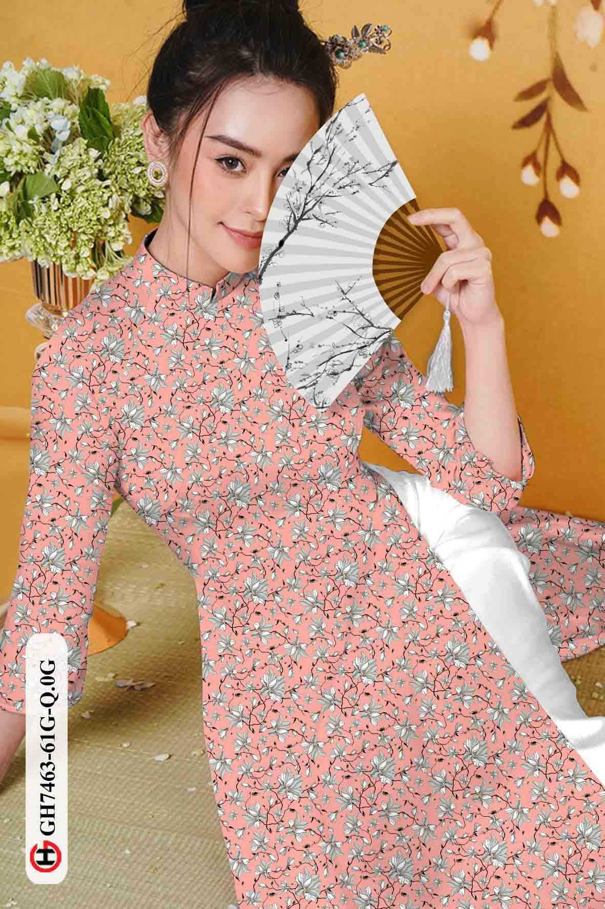 Vải áo dài hoa nhí AD GH7463 31