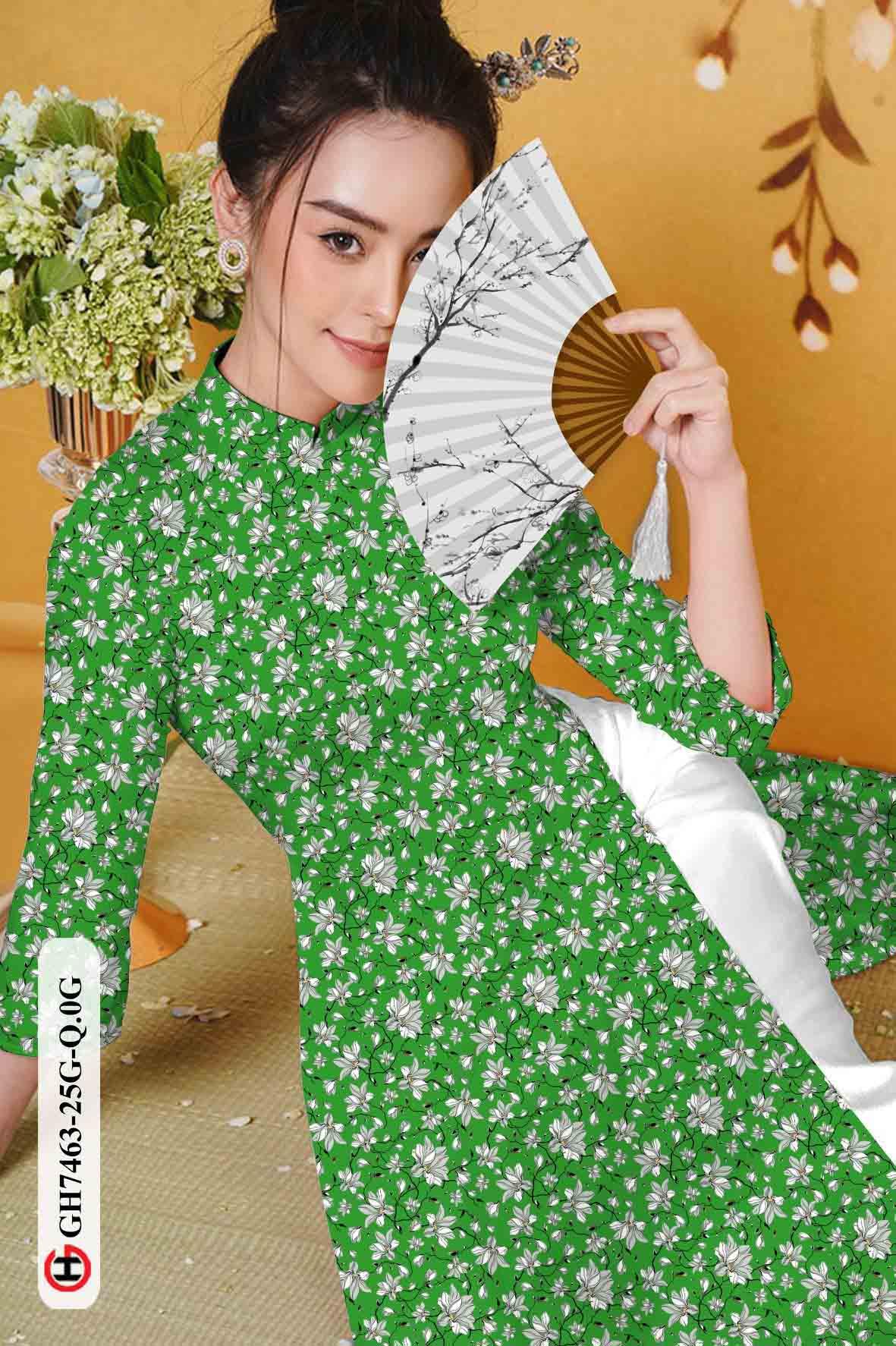 Vải áo dài hoa nhí AD GH7463 39