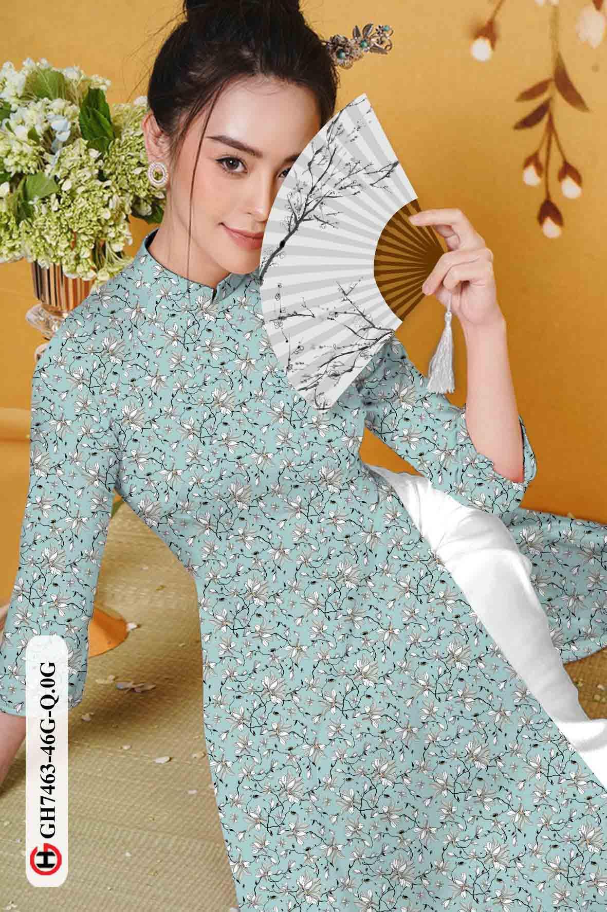 Vải áo dài hoa nhí AD GH7463 42