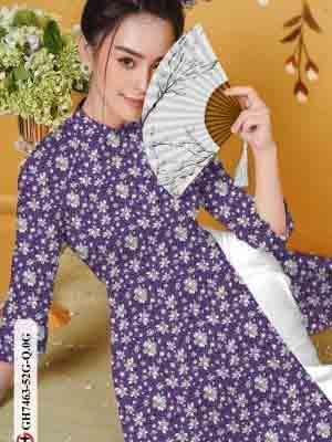 Vải áo dài hoa nhí AD GH7463 28