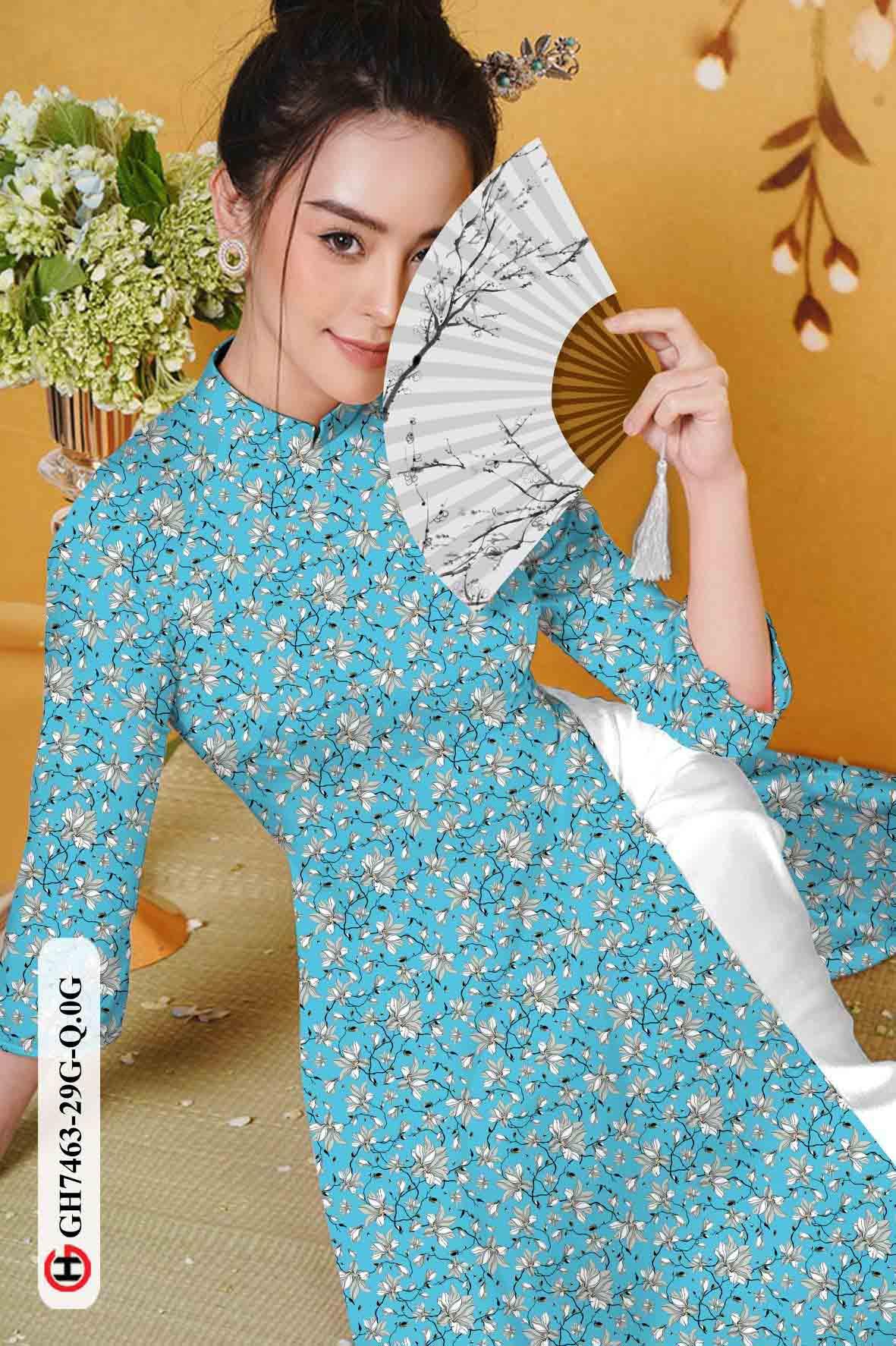 Vải áo dài hoa nhí AD GH7463 30