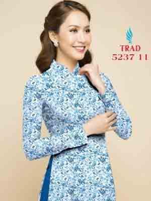 Vải áo dài hoa nhí AD TRAD 5237 8