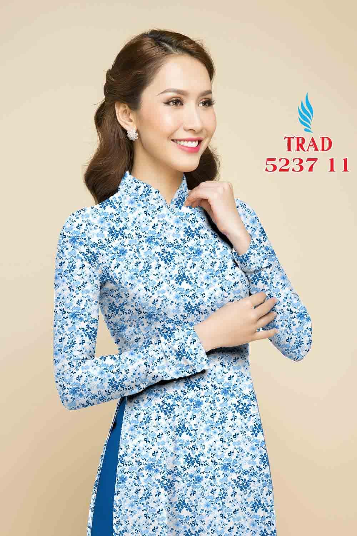 Vải áo dài hoa nhí AD TRAD 5237 14