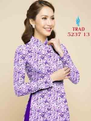 Vải áo dài hoa nhí AD TRAD 5237 9