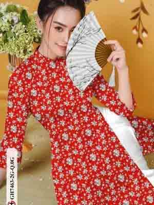 Vải áo dài hoa nhí AD GH7463 21