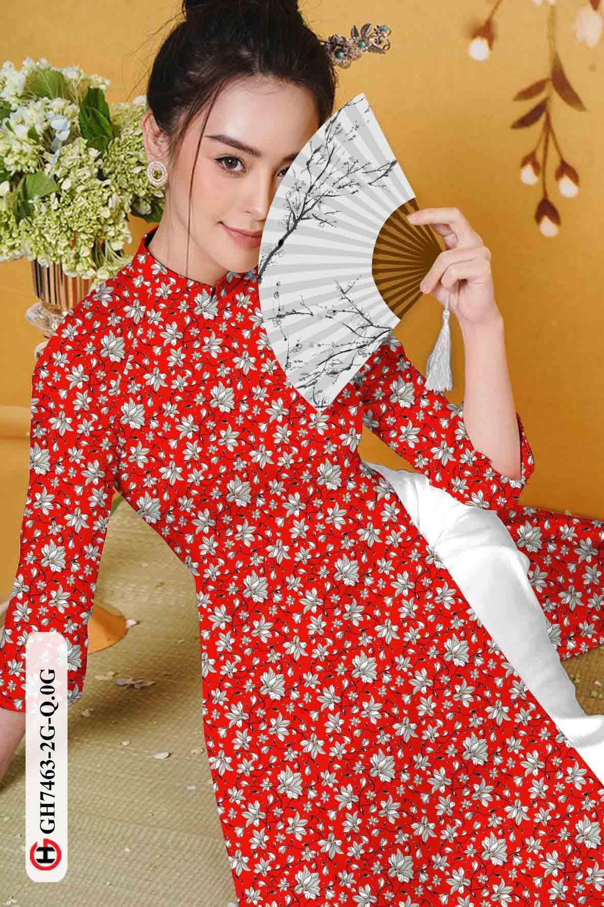 Vải áo dài hoa nhí AD GH7463 36