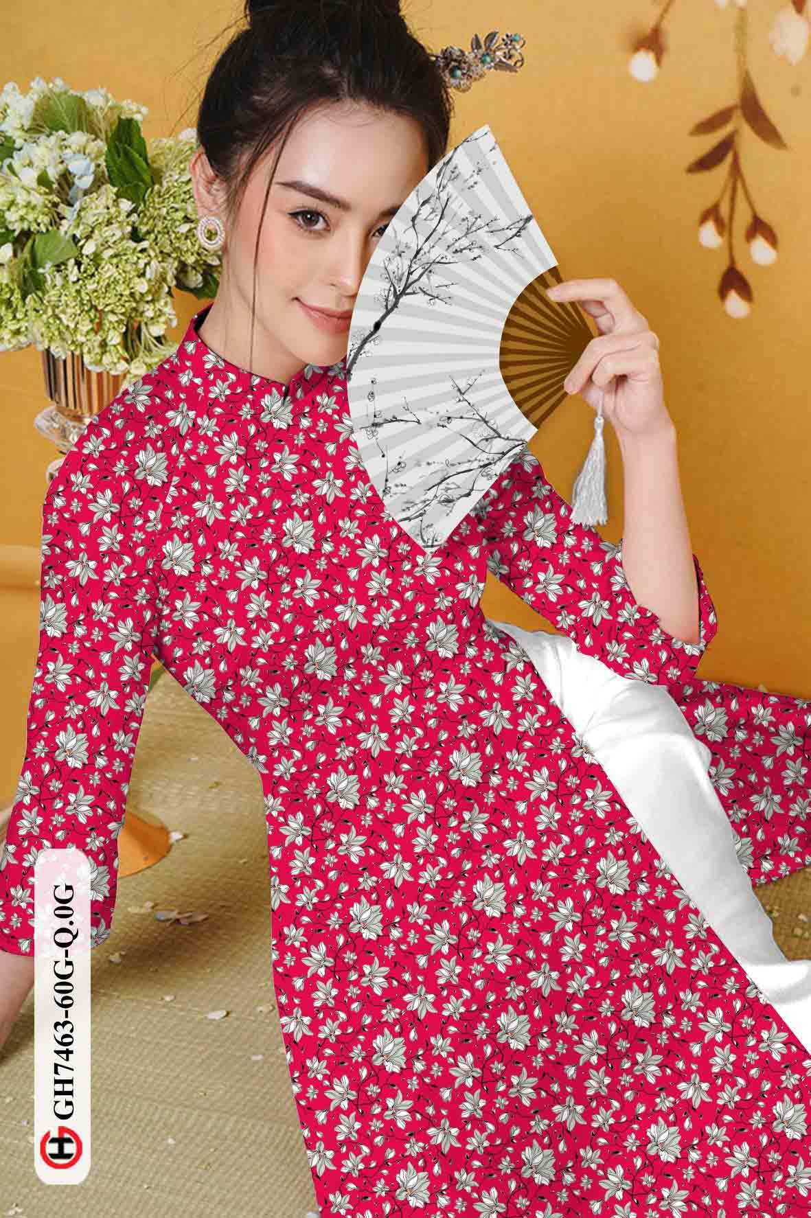Vải áo dài hoa nhí AD GH7463 32