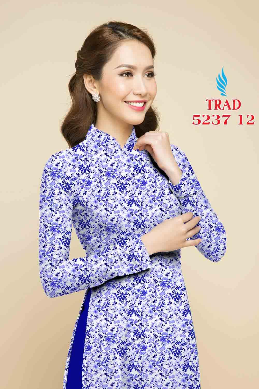 Vải áo dài hoa nhí AD TRAD 5237 12
