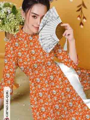 Vải áo dài hoa nhí AD GH7463 18