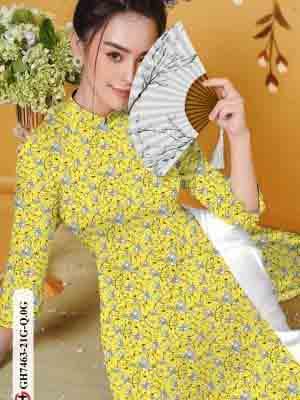 Vải áo dài hoa nhí AD GH7463 22