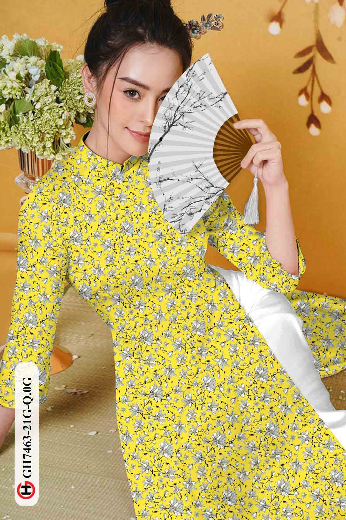 Vải áo dài hoa nhí AD GH7463 37