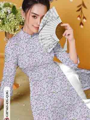 Vải áo dài hoa nhí AD GH7463 26