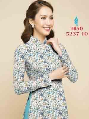 Vải áo dài hoa nhí AD TRAD 5237 7
