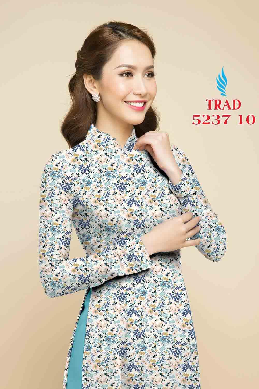 Vải áo dài hoa nhí AD TRAD 5237 13