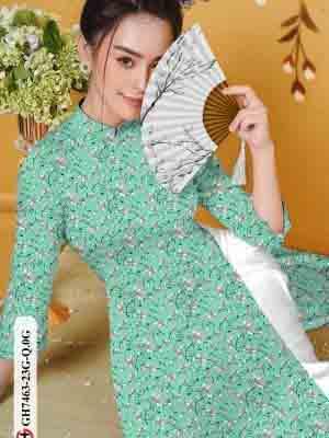 Vải áo dài hoa nhí AD GH7463 20