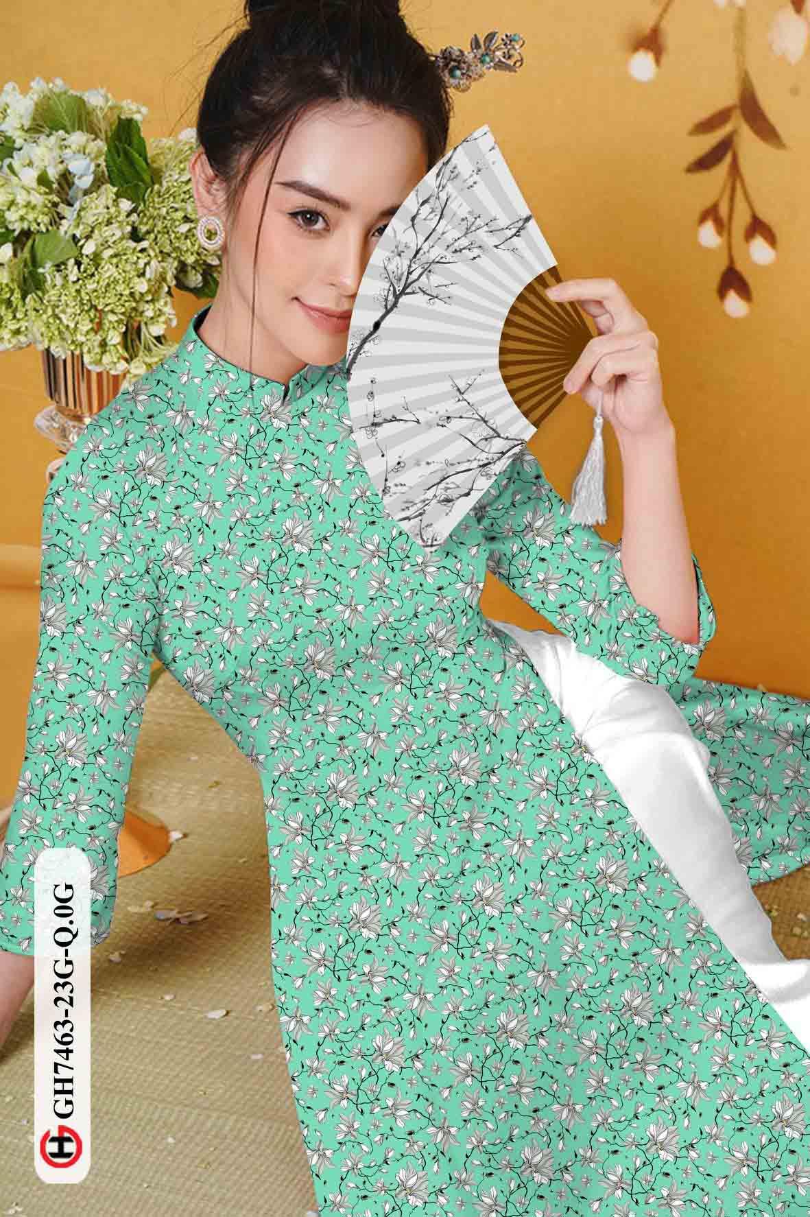 Vải áo dài hoa nhí AD GH7463 35
