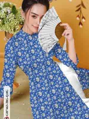 Vải áo dài hoa nhí AD GH7463 23
