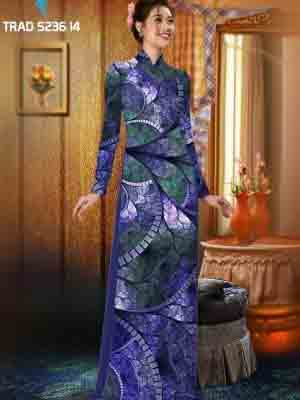 Vải áo dài hoa văn AD TRAD 5236 11