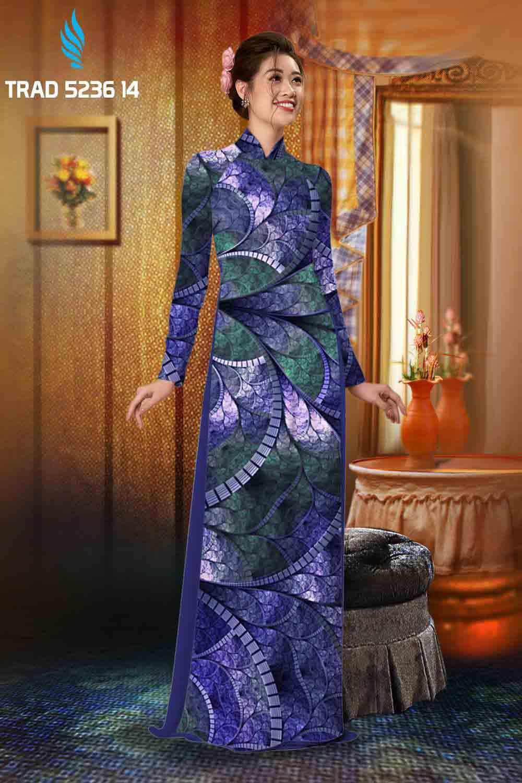 Vải áo dài hoa văn AD TRAD 5236 18