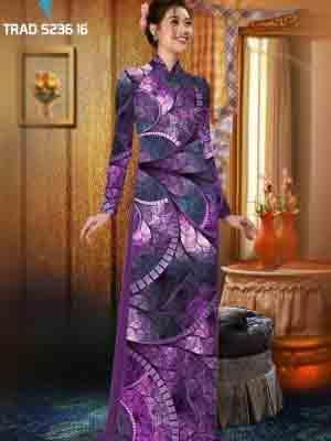 Vải áo dài hoa văn AD TRAD 5236 13