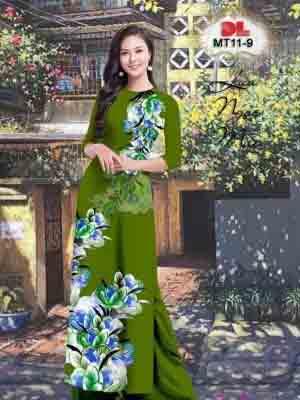 Vải Áo Dài Hoa In 3D AD MT11 33