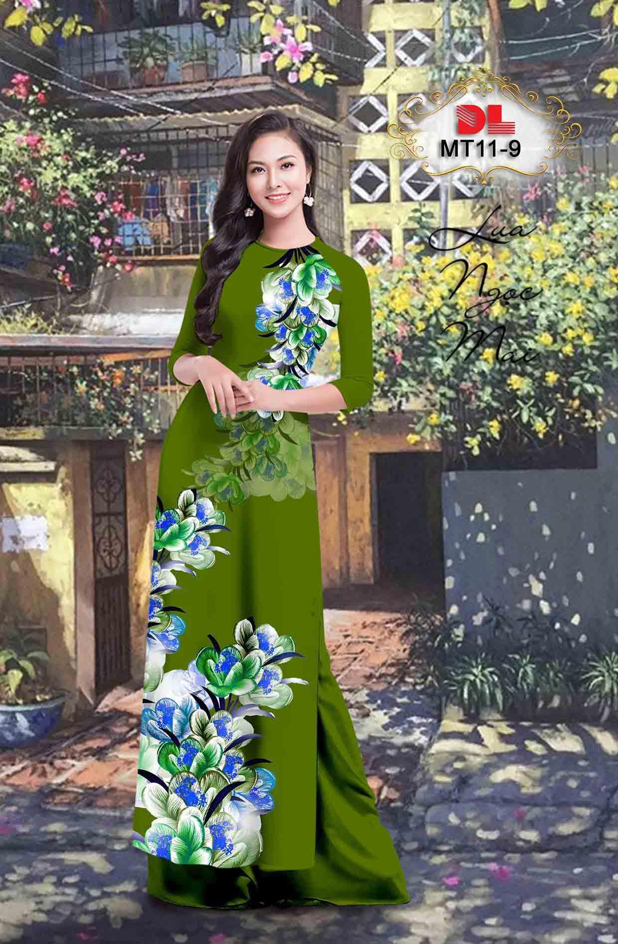 Vải Áo Dài Hoa In 3D AD MT11 52