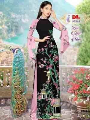 Vải Áo Dài Phong Cảnh AD 9176 30